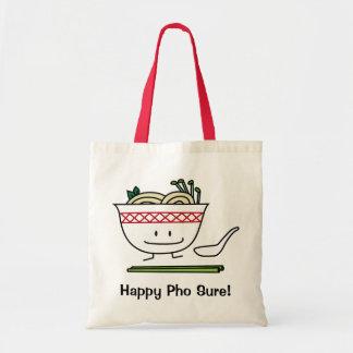 Pho Noodle Bowl Vietnam soup spoon chopsticks Tote Bag