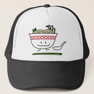 Pho Noodle Bowl Vietnam soup spoon chopsticks Trucker Hat
