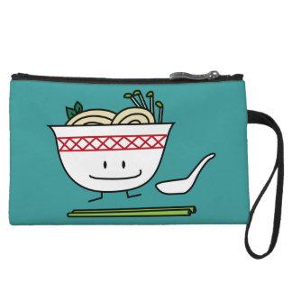 Pho Noodle Bowl Vietnam soup spoon chopsticks Wristlet Wallet