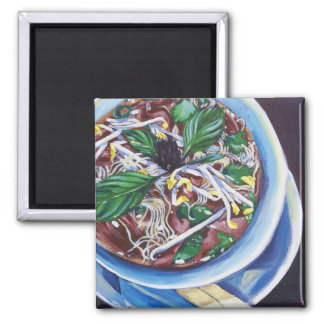 Pho Soup 2 Inch Square Magnet