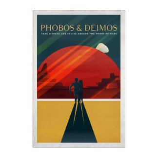 Phobos and Deimos Martian Moons Cruise Acrylic Print