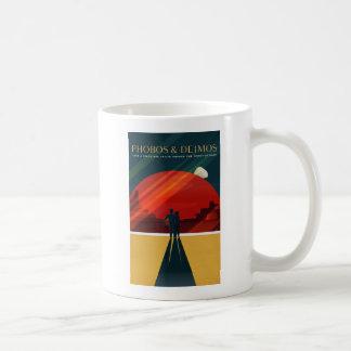 Phobos and Deimos Martian Moons Tourism Coffee Mug