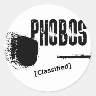 Phobos UFO Classified image Classic Round Sticker