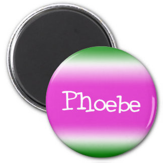 Phoebe 2 Inch Round Magnet