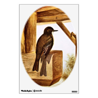 Phoebe Bird Illustration Wall Sticker