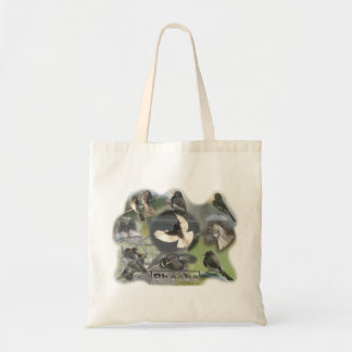 Phoebe Birds Photo Collage Budget Tote Bag