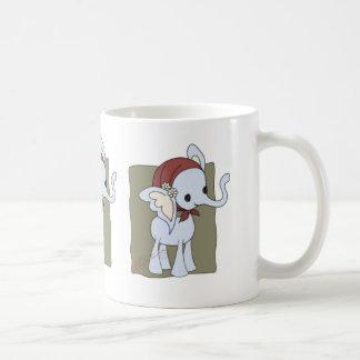 """Phoebe""  Cute Old Lady Elephant Classic White Coffee Mug"