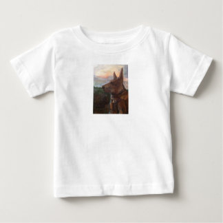 """""""Phoebe Dog in the Sunset"""" painting Youth T-shirt"""
