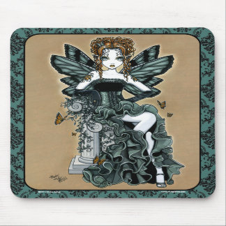 """""""Phoebe"""" Gothic Couture Butterfly Fairy Mousepad"""