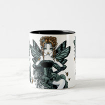phoebe, fairy, faery, fae, monarch, faerie, gothic, couture, art, fantasy, tiger, lily, tattoo, myka, jelina, corset, ruffles, green, faeries, nymphs, sprites, Mug with custom graphic design