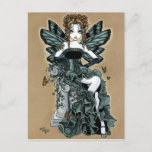 """""""Phoebe"""" Gothic Couture Butterfly Fairy Postcard"""