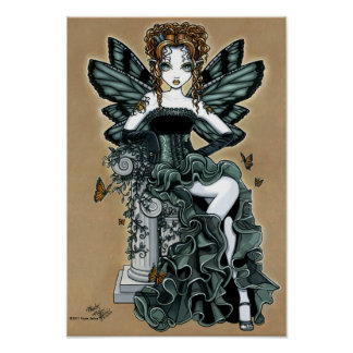 """Phoebe"" Gothic Couture Butterfly Fairy Poster"