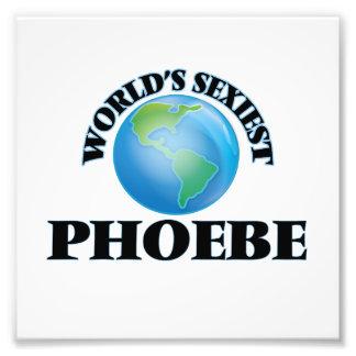 Phoebe más atractivo del mundo cojinete