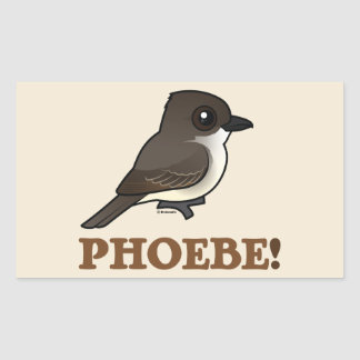 PHOEBE! RECTANGULAR STICKER