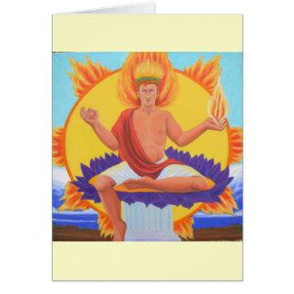 Phoebus Apollo Greeting Card