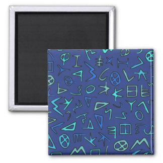 Phoenician alphabet 2 inch square magnet
