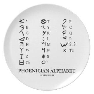 Phoenician Alphabet (Ancient Language Symbols) Plate