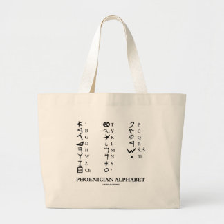 Phoenician Alphabet (Linguistics Cryptography) Jumbo Tote Bag