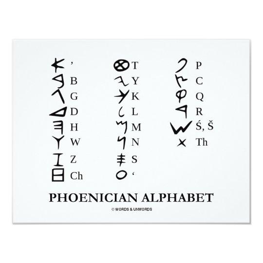 Phoenician Alphabet (Linguistics Cryptography) Card