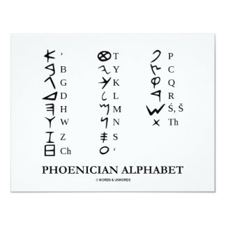 Phoenician Alphabet (Linguistics Cryptography) Card