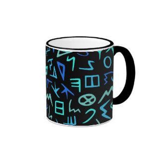 Phoenician alphabet ringer coffee mug