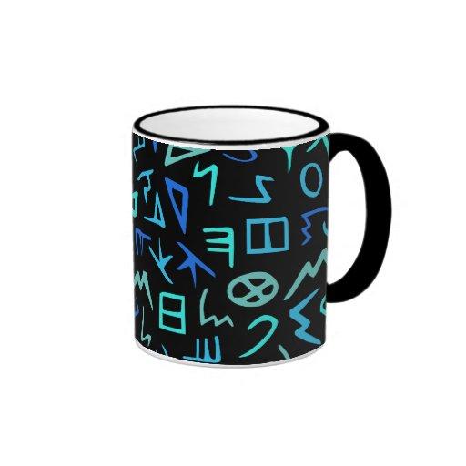 Phoenician alphabet mugs
