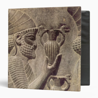 Phoenician carrying two offering, detail relief 3 ring binder