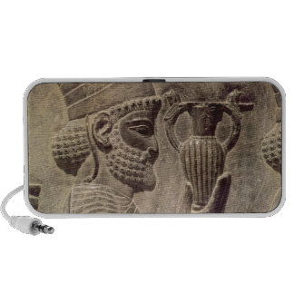 Phoenician carrying two offering, detail relief iPhone speakers