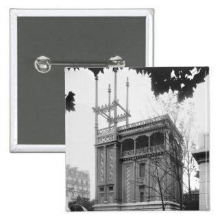 Phoenician House, Universal Exhibition, Paris Pinback Button