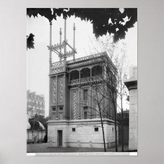 Phoenician House, Universal Exhibition, Paris Poster