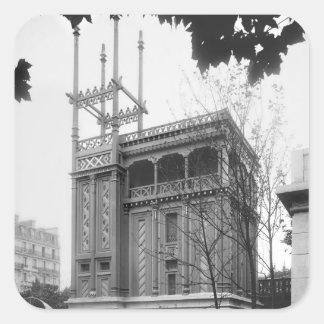 Phoenician House, Universal Exhibition, Paris Square Sticker