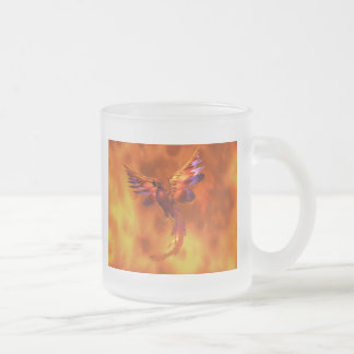 Phoenix 10 Oz Frosted Glass Coffee Mug