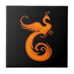 Phoenix anaranjada azulejo cerámica