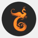 Phoenix anaranjada etiquetas redondas