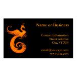 Phoenix anaranjada tarjetas de visita