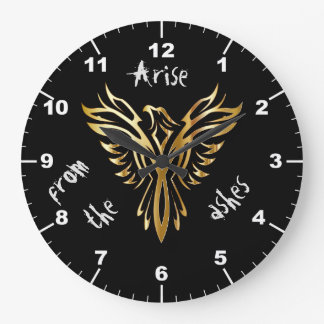 Phoenix arise from the ashes large clock