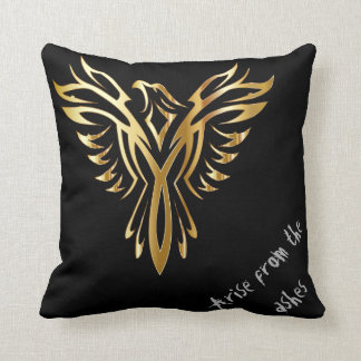 Phoenix arise from the ashes throw pillow