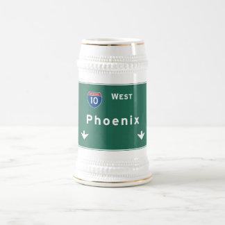Phoenix Arizona az Interstate Highway Freeway : Beer Stein