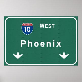 Phoenix Arizona az Interstate Highway Freeway : Poster