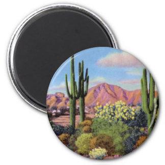 Phoenix Arizona Camelback Mountain 2 Inch Round Magnet