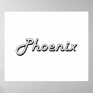 Phoenix Arizona Classic Retro Design Poster
