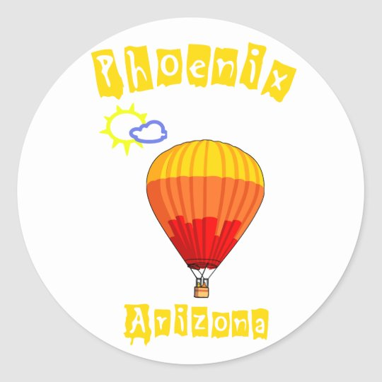 Phoenix, Arizona Classic Round Sticker