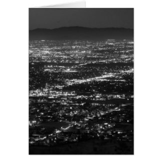 Phoenix Arizona Lights at Night Card