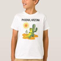 Phoenix Arizona Lizard in the Sun under a Saguaro T-Shirt