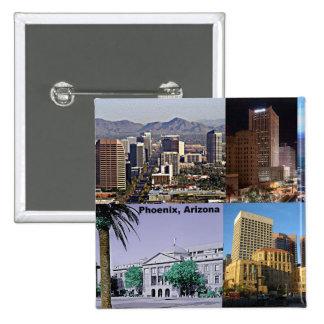 Phoenix Arizona Montage Pinback Button