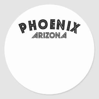 Phoenix Arizona Etiquetas Redondas