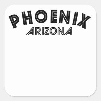 Phoenix Arizona Calcomanía Cuadradase