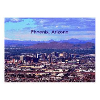 Phoenix, Arizona Skycape in Daytime Large Business Card