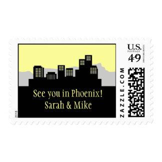 Phoenix, Arizona Skyline Postage Stamp