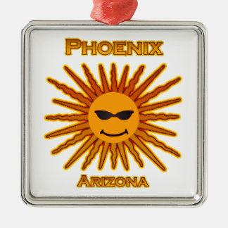 Phoenix Arizona Sun Logo Metal Ornament